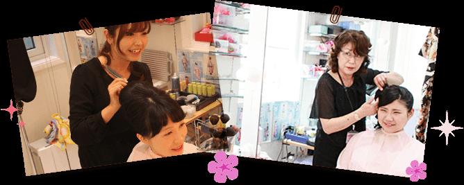 ブライダルフォト撮影中はヘアスタイルやメイクなど、お客様の満足が得られるまで何度でもお直しいたします!