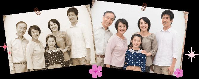 大切な家族写真は写真館で品良く、質良く残したい!心を込めて撮影します。