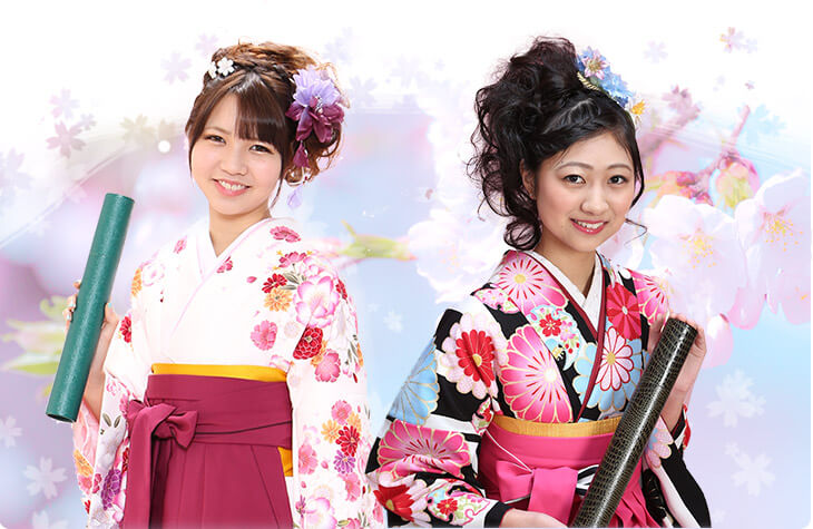トータルフォトスタジオCocoではレンタルした袴などの衣装でそのまま卒業式へ出席OK!