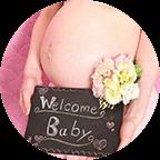 赤ちゃんと写る初めての写真撮影。トータルフォトスタジオCocoでは安心してのぞんで頂けます